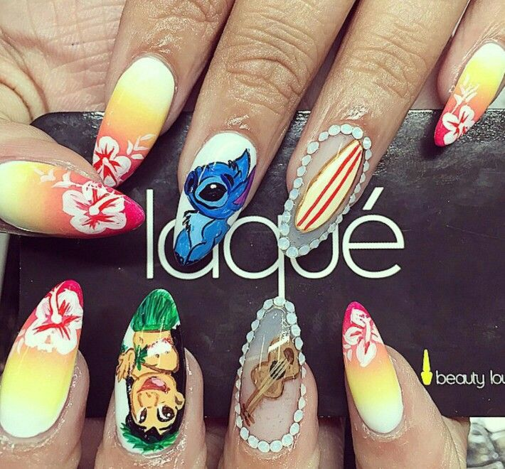Lilo And Sch Almond Nails