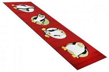 """Der Kinderteppich Läufer Pinguine aus der Happy Friends Kollektion ist im wahrsten Sinne des Wortes """"zum kaputt Lachen"""". Die crazy Pinguin Freunde besitzen alle eine typische Charaktereigenschaft, die Ihr Kind mit Sicherheit erblicken wird und wahnsinnig lustig findet."""