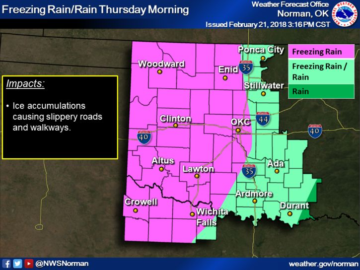 More Winter Weather Coming To Oklahoma On Thursday