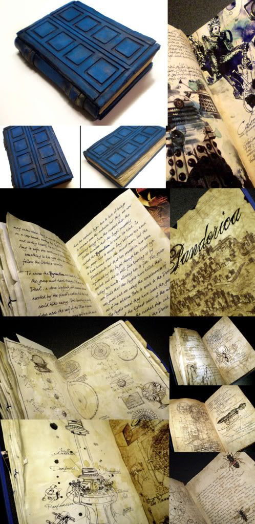 Awesome Doctor Who art book.  Link goes to the forum where the creator discusses the process and shows an early prototype.