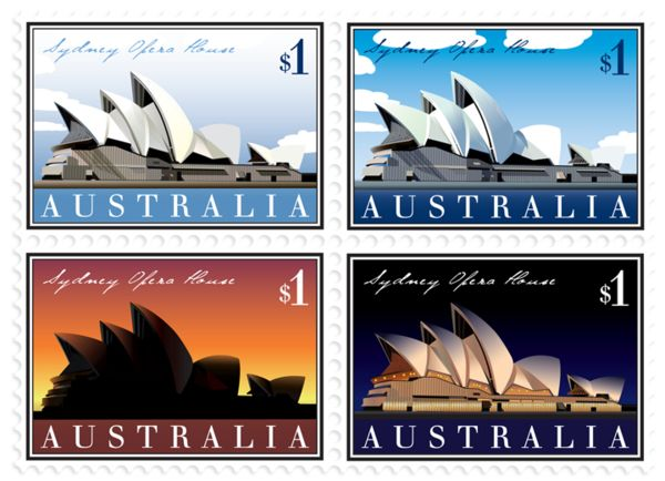 Sydney Opera House Stamp Series on Behance