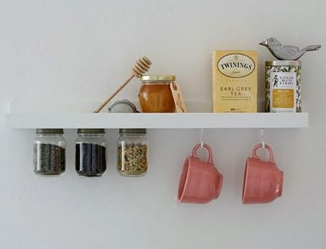 tea time! I love this shelf idea, and I could sure use