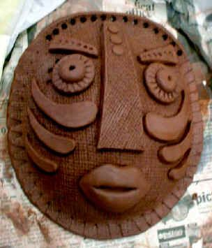 gorgeous clay mask - slab, texture, score and slip, symmetry