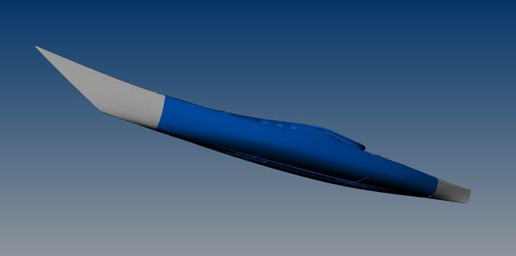 The Switchblade modular sectional sea kayak plastic version 3