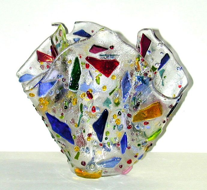 Kiln Formed Art Glass Vase