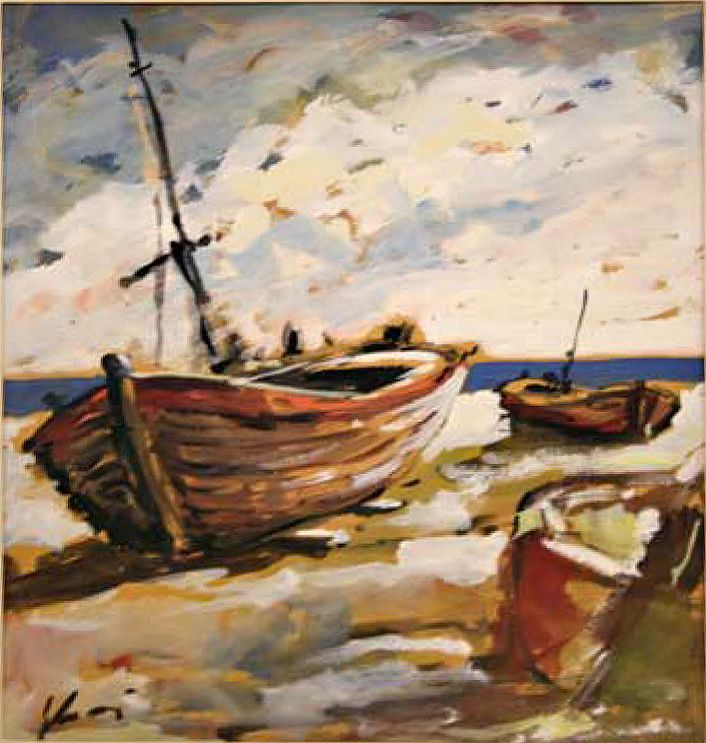 "#DiegoVoci™  ""Schiff"" (Boat) is currently in the DIEGO VOCI ESTATE with Helga Voci his widow. This Original Tempera is signed ""Voci"" and measures 58 cm x 48 cm  is available through the new website www.diegovociproject.com .Priced at 2,500 Euro, one can use PayPal or a Credit Card."