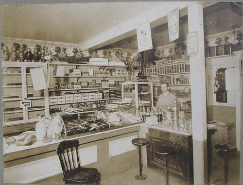 Interior of Arthur Young's Restaurant in Wolfville - corner of Elm Avenue. This is now The Coffee Merchant.