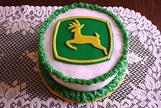 John Deere logo cake