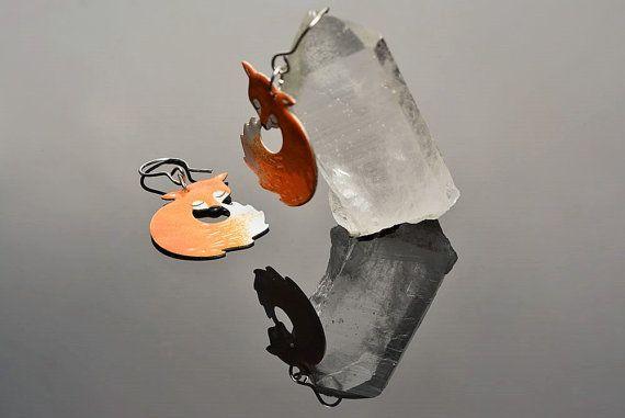 Fox earrings - stainless steel  by #CinkyLinky