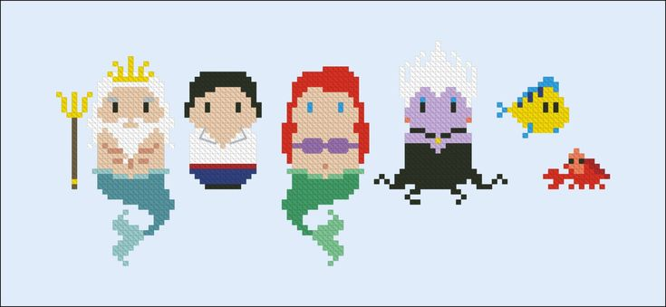 The Little Mermaid - Mini People - Pattern by CloudsFactory