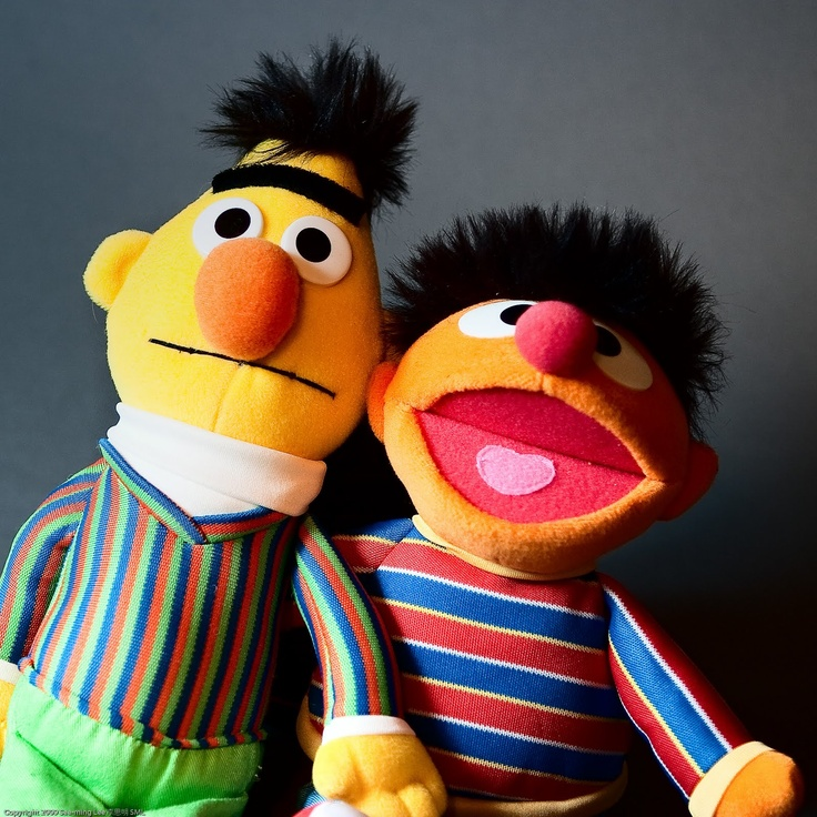 Bert and Ernie remind me of Rosencrantz and Guidenstern. They are Hamlets friends from school and they spy on Hamlet.