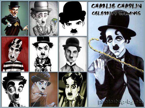 찰리 채플린 - 유명인 그림