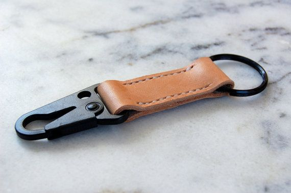 Handmade Military Style HK Clip Leather Keychain by RitsandRits
