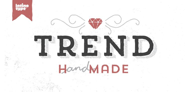 Trend Hand Made is a font made of layers, taking as a basis a sans #LogoCore