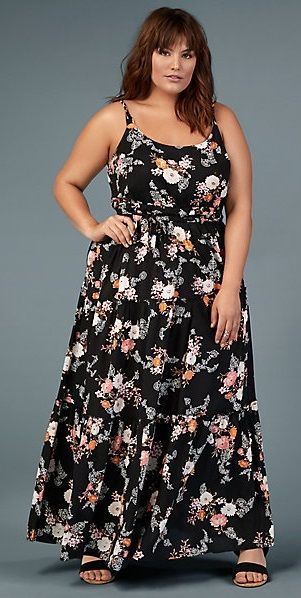 Just add a layering top under the straps and this is a beautiful modest maxi