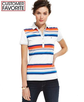 Tommy Hilfiger Serape-Stripe Polo Shirt