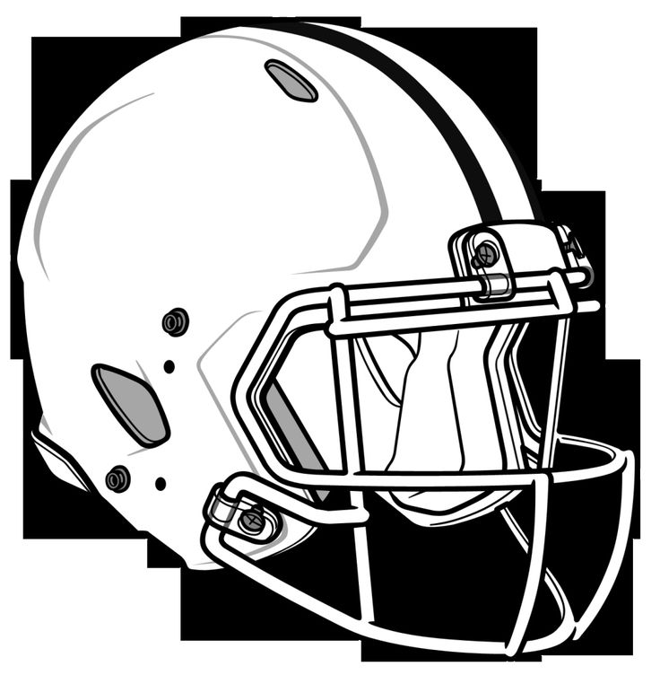 30 Coloring Pages College Football Helmets   Football ...