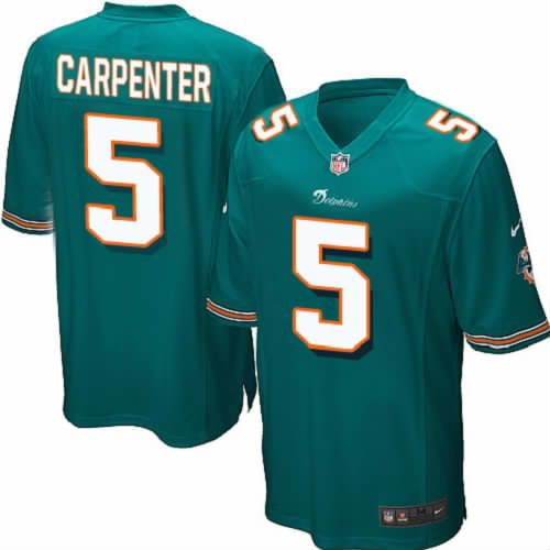 Dan Carpenter Jersey Miami Dolphins #5 Mens Green Limited Jersey Nike NFL Jersey Sale