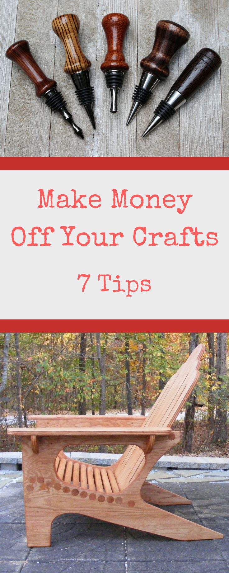 DIY Woodworking Ideas Learn 7 tips for making money through your crafts. You can learn how to sell you...