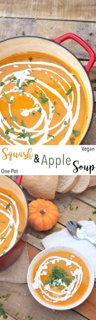 Squash & Apple Soup | Raising Sugar Free Kids #sugarfree #soup #autumn# fall #pumpkin #squash #thanksgiving #vegan