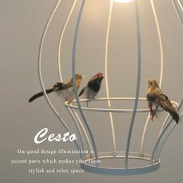 BIRD CEILING LIGHT ■cesto-チェスト-■鳥のオブジェ付き北欧系ペンダントライト【DICLASSE-ディクラッセ-】 価格 21,000円 (税込) 送料込