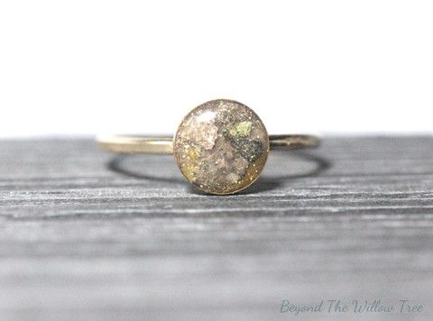 Loved one's ashes silver or gold ring