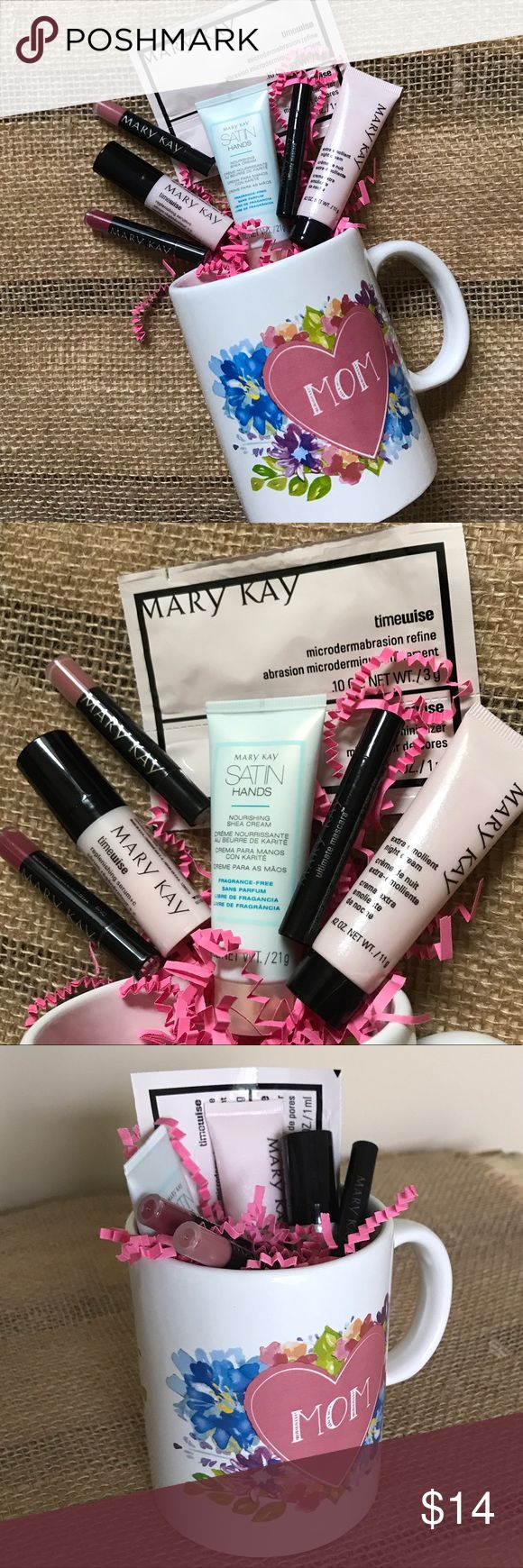 "Mary Kay Mother's Day Coffee Mug Sampler Gift ""MOM"" Coffee Mug filled with Mary Kay Deluxe Samples as pictured: 2 Mini Lip Gloss Ultimate Mascara, Black Microdermabrasion 2-step Satin Hands Lotion Extra Emollient Night Cream Replenishing Serum C ✅All items new / not expired ❌NOT for individual sale! Only selling together as pictured ❌ NO trades! Price IS firm unless bundled. Mary Kay Makeup"