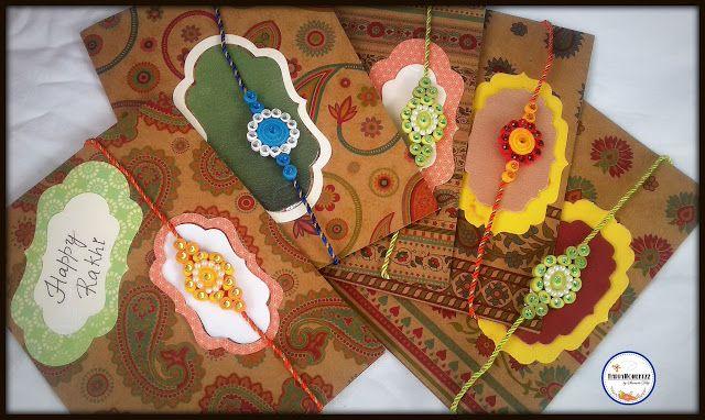 HappyMomentzz crafting by Sharada Dilip: Rakhi cards - Indian festival