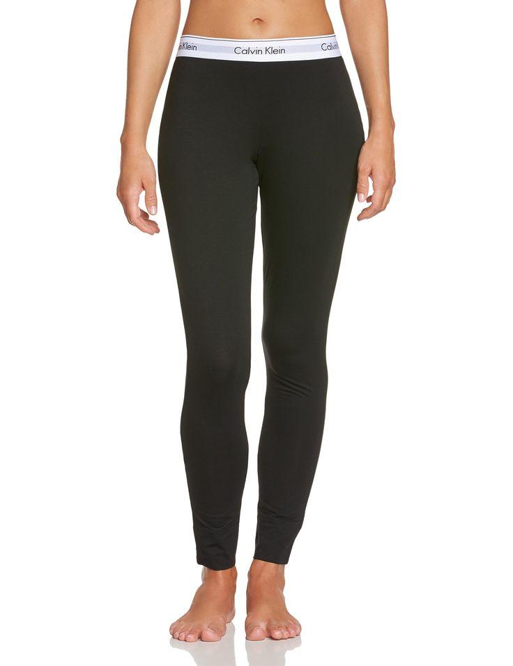 Calvin Klein Underwear Modern - Bas de pyjama - Uni - Femme, Noir (Black 001), 44