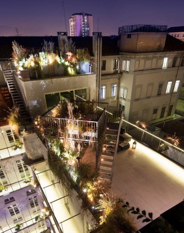 Fire escape turned into an amazing outdoor space