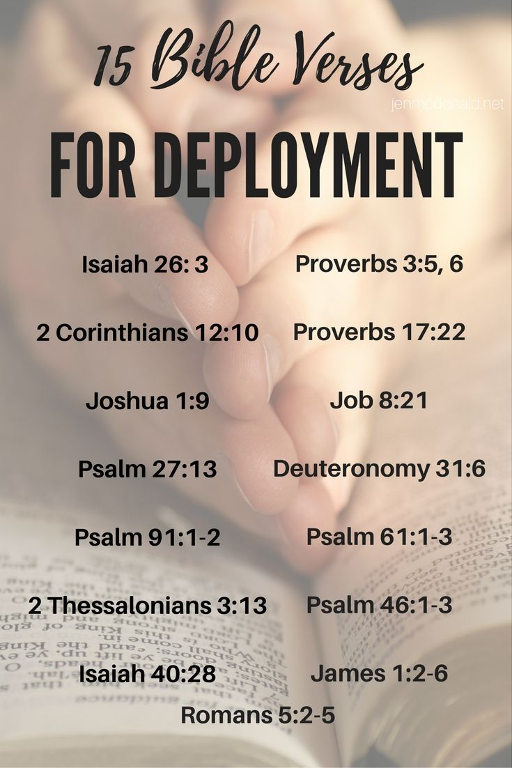 I've had it on my heart for some months to share a few of the verses that have gotten me through years of separations and deployments, so I'd like to share those with you.