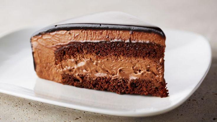 Lo mejor de Anna Olson  Receta | Tarta de mousse de chocolate con cobertura de chocolate (Rich chocolate mousse cake) - canalcocina.es