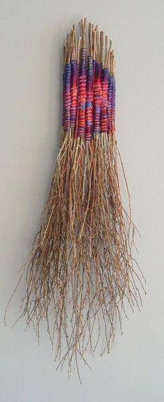 regardsetmaisons: DIY estival : des branches lainées et colorées