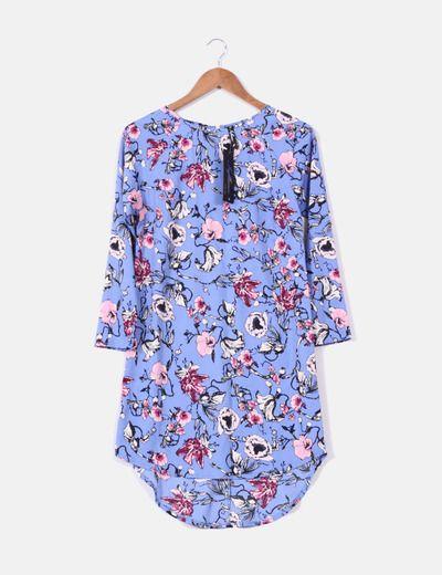 Vestido azul print floral NoName