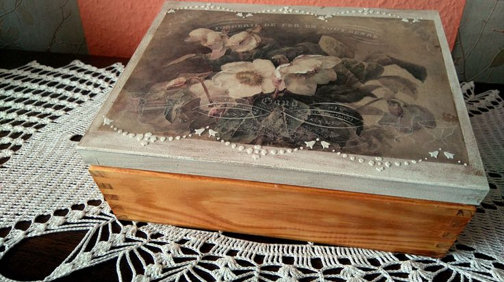 decoupage box, flowers, itd collection