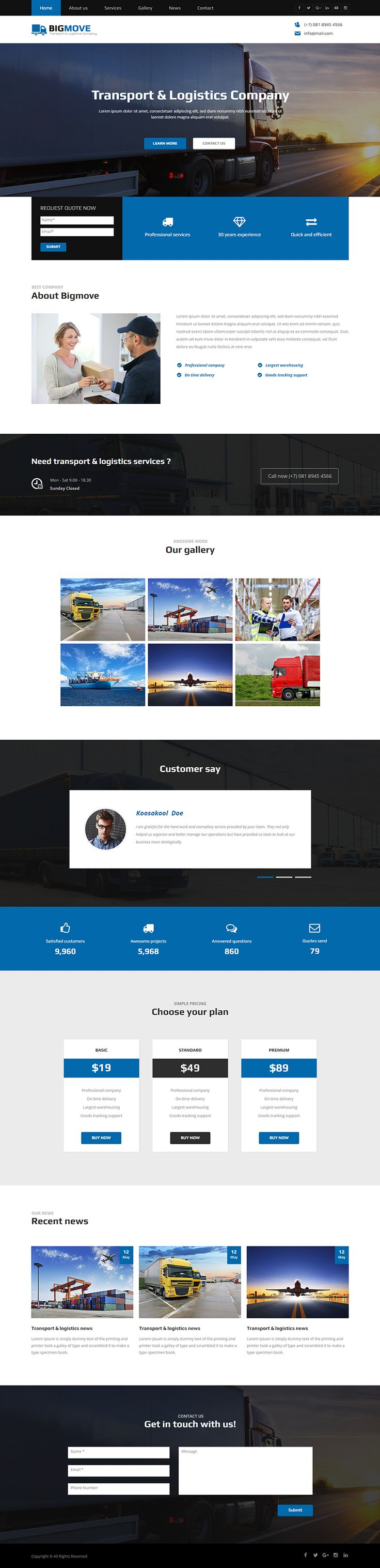 """Check out my @Behance project: """"Big Move - Responsive Transport & Logistics…"""