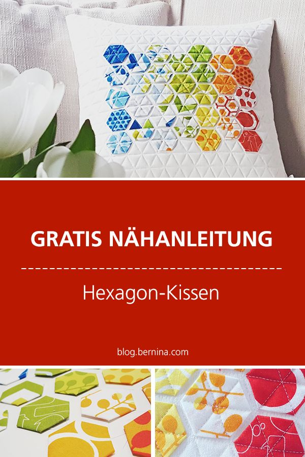 Modernes Hexagon Kissen Technick English Paper Piecing English