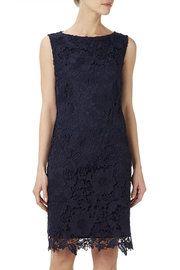 Ink Floral Lace Shift Dress