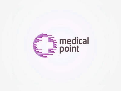 Logo design for Medical Point, a distribution company focused on the beauty, cosmetic, aesthetic medicine market.  More logo and identity design projects on www.alextass.com