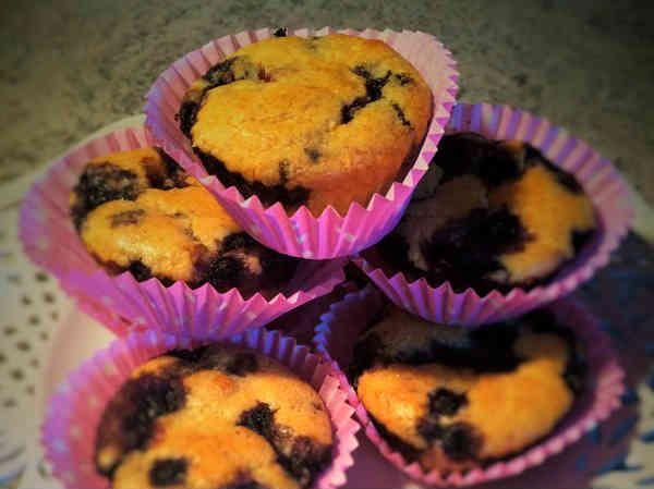 LCHF-recept: Lolas mejerifria blåbärsmuffins | LCHF-arkivet