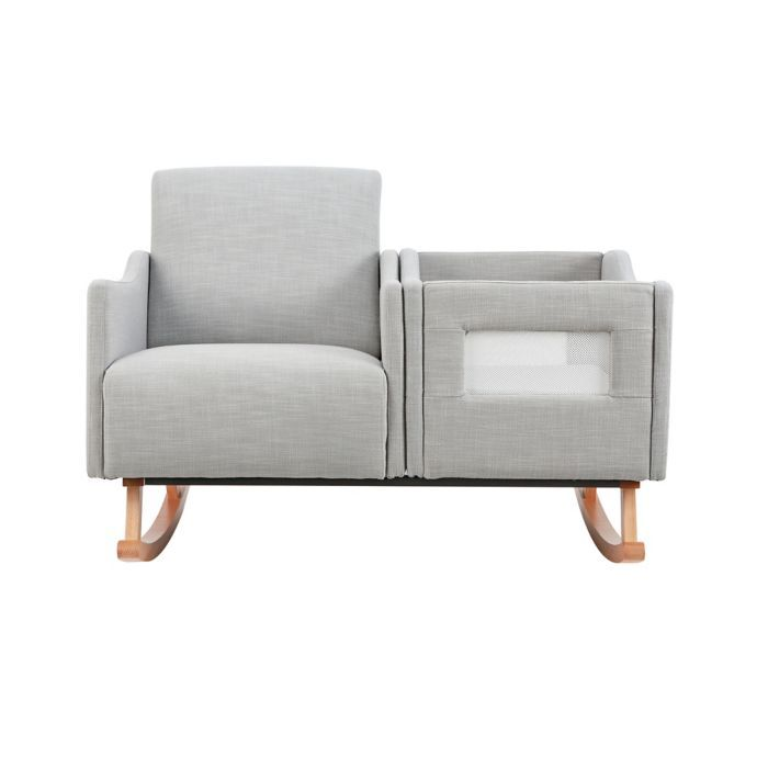 Incredible Karla Dubois Emerson Nursing Rocker And Bassinet In Grey Pdpeps Interior Chair Design Pdpepsorg