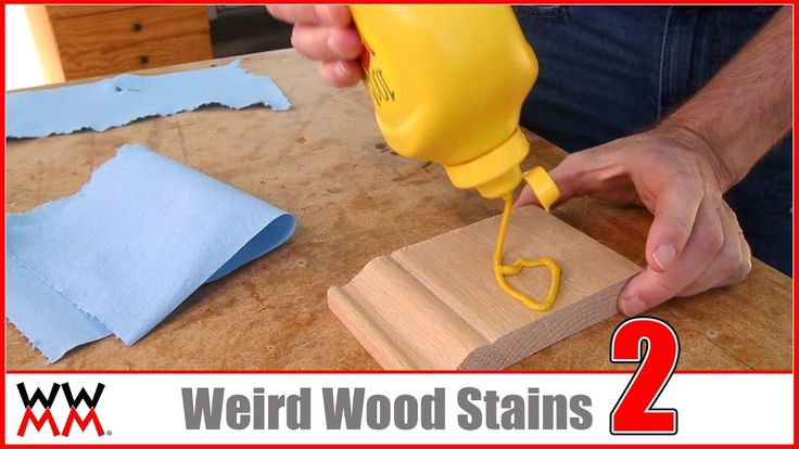 Kool-Aid, Mustard, and MORE Weird Wood Stains. [Sponsored by Metrie]