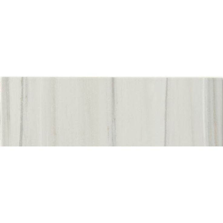 Shop FLOORS 2000 Alboran Perla Glazed Porcelain Mosaic Indoor/Outdoor Bullnose Tile (Common: 3-in x 12-in; Actual: 3-in x 11.81-in) at Lowes.com