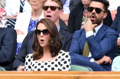 Duchess Kate Pops By Wimbledon Opening Day