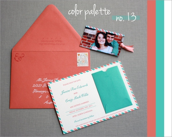 Coral And Teal Wedding Invitations: 61 Best Images About Coral And Aquamarine Wedding On Pinterest