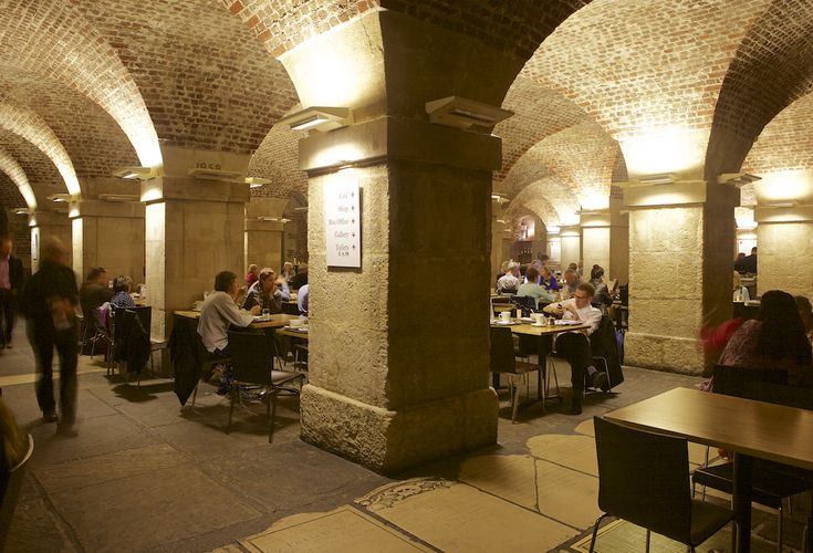 Why not have lunch at the Cafe in the Crypt of St. Martin in the Fields church in Trafalgar Square. Designed by James Gibbs in 1722-1724