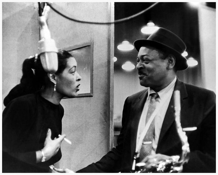 Collection F.Driggs New York City. The Sound of Jazz. December, 5th 1951. Billie HOLIDAY, American singer and Coleman HAWKINS, American saxophone player