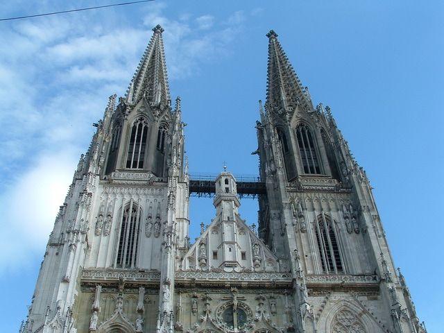 Regensburg, Germany - Oldest Town on the Danube River and World Heritage Site: Regensburg St. Peters Cathedral - Dom St. Peter of Regensburg, Germany