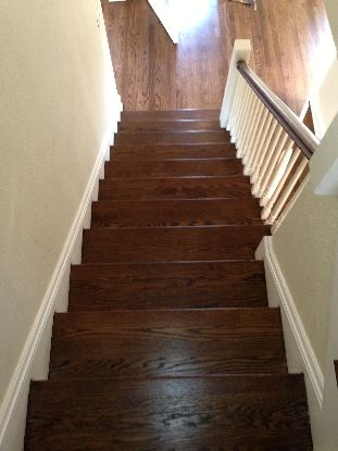 Best Stairs Red Oak With Dark Walnut Stain Remodel Ideas 400 x 300