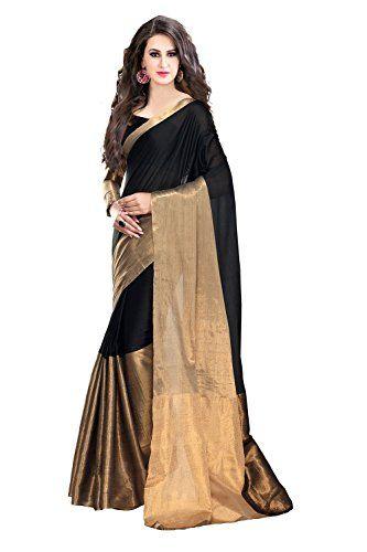 Trendz cotton Silk Saree(TZ_Vishwa_Black) Check more at http://www.indian-shopping.in/product/trendz-tassar-silk-sareetz_vishwa_black/